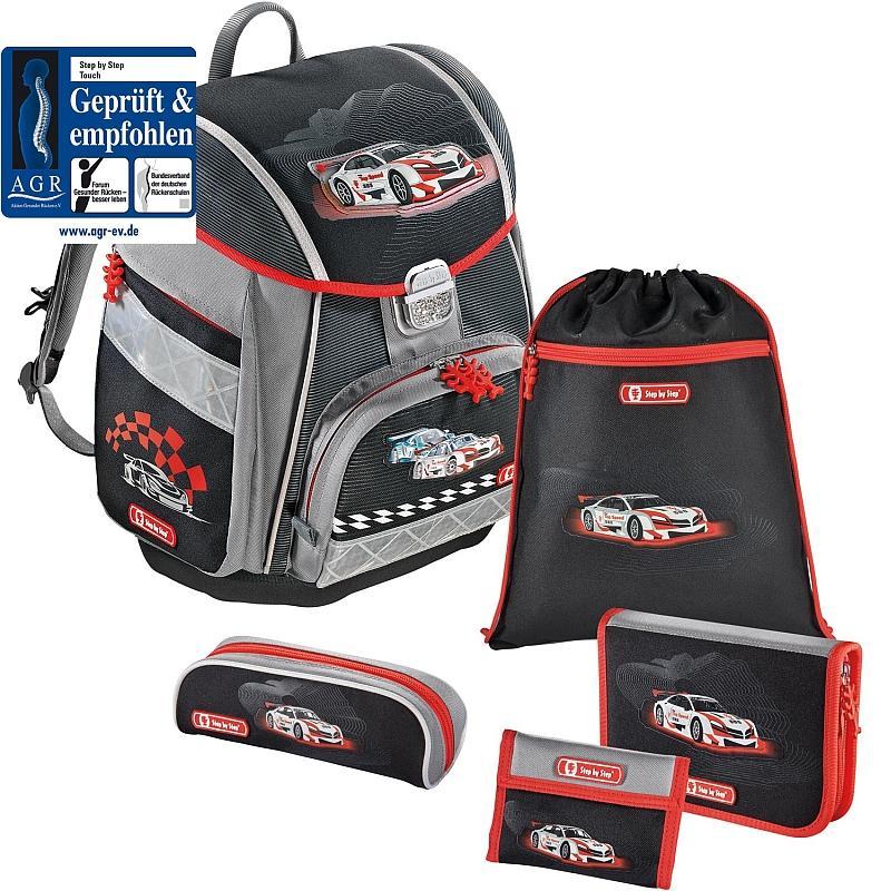 Školní aktovka Racer auto 5 dílný set Hama Step by Step certifikát AGR 851ee6735e