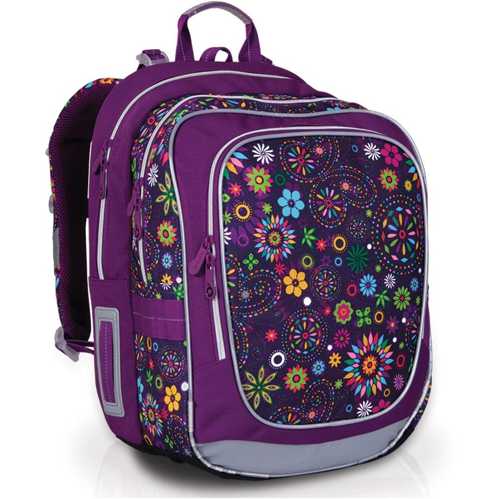 Školní batoh Topgal CHI 738 - I Purple květy motýli 9175ee1272