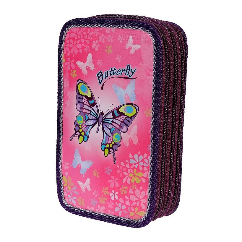 Školní třípatrový penál Emipo Butterfly motýl  c8d4d87d2d