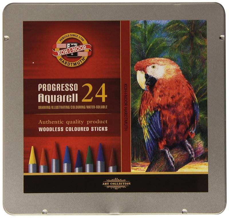 Akvarelové pastelky v laku Progresso sada 24 barev Koh-i-noor 8784 cf633f0a6d