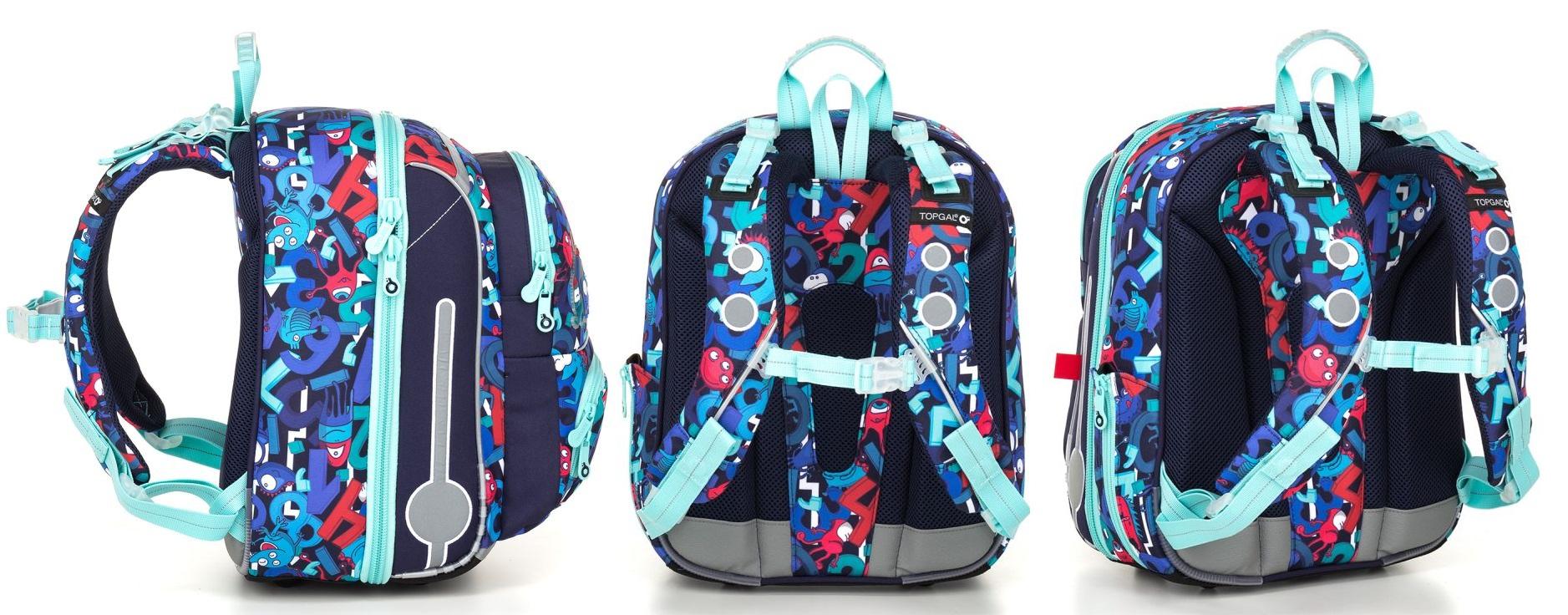Školní aktovka batoh Topgal BEBE 18008 G květy b4222df098