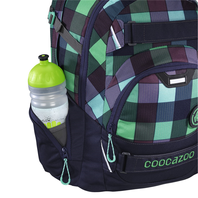 Školní batoh Coocazoo CarryLarry2 Green Purple District 2348421fbc