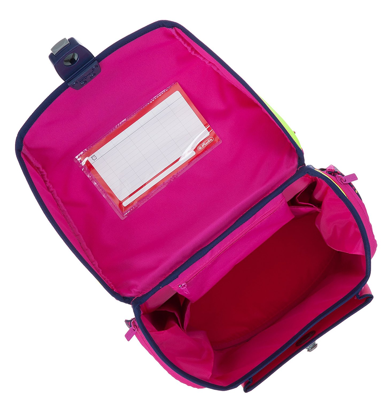 Školní aktovka 4 dílný set růžové Srdce Midi Plus Herlitz d05ef6f00a