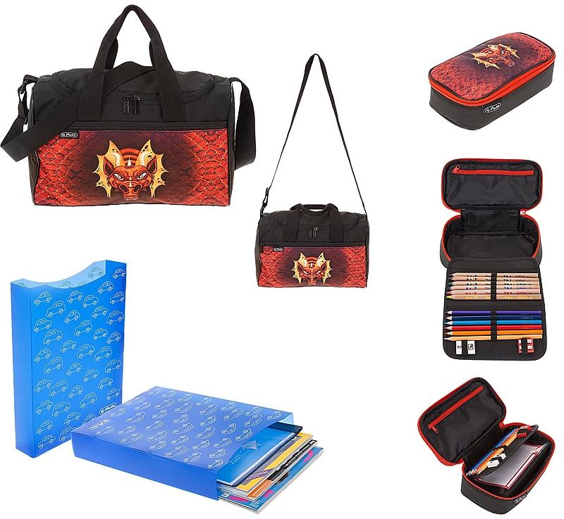 Školní batoh 4 dílný set Herlitz Motion Drak 378d9574d3