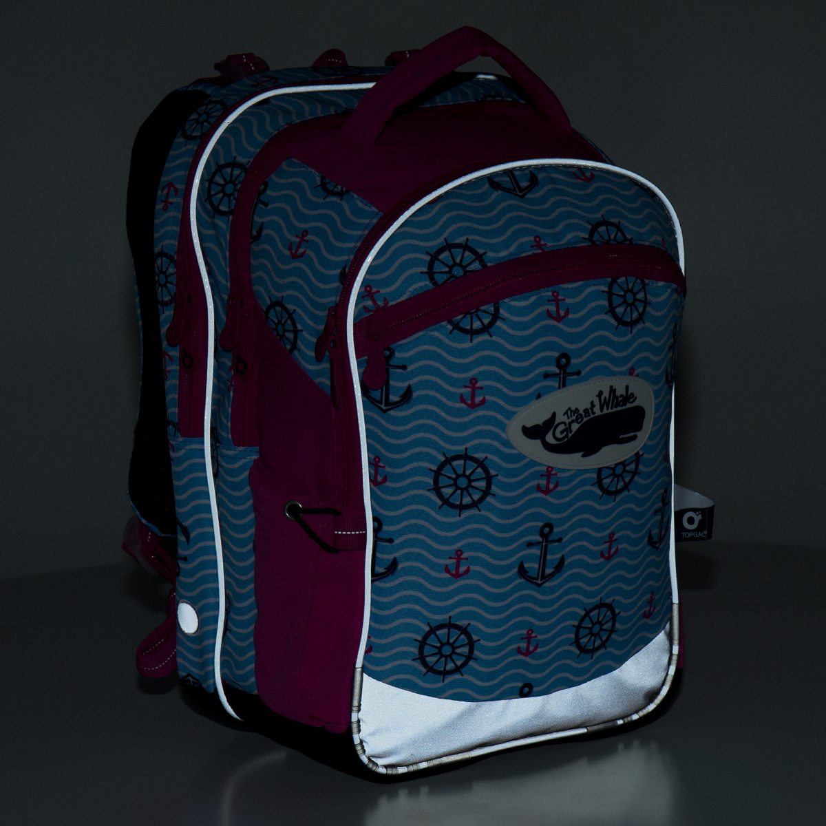 Školní batoh Topgal CHI 802 - H Pink námořnický 233ee50425