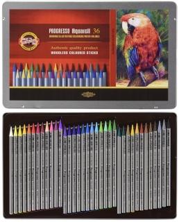 Akvarelové pastelky v laku Progresso sada 36 barev Koh-i-noor 8785 3187d044d8