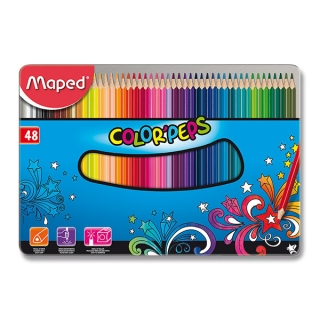 Trojhranné pastelky Maped 48 barev Color'Peps Metal Box