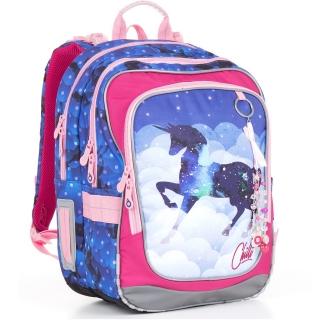 e7f8e15cd7a Doprava ZDARMA. Školní batoh Topgal CHI 843 - D Blue Jednorožec